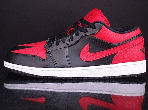 0074185f893d57 Air Jordan 1 Low Black Gym Red - Trapped Magazine