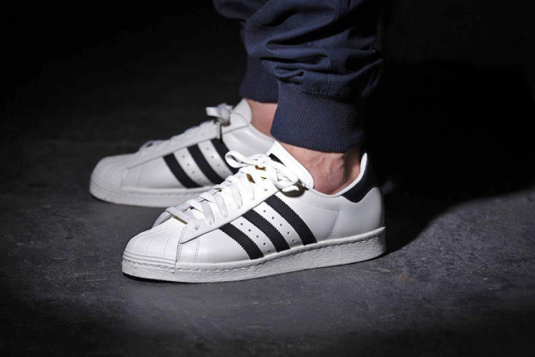 best sneakers ddb75 85279 adidas Superstar 80s Deluxe OG Vintage White/Black - Trapped ...