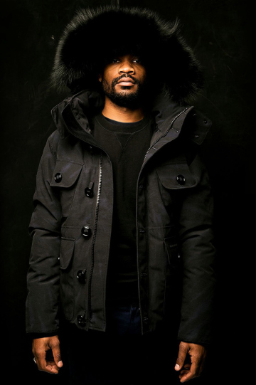 all black canada goose