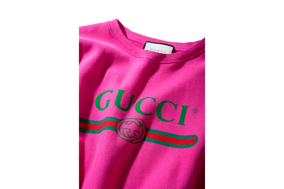 Gucci to Release Pink Vintage Logo Sweatshirt - Trapped ...