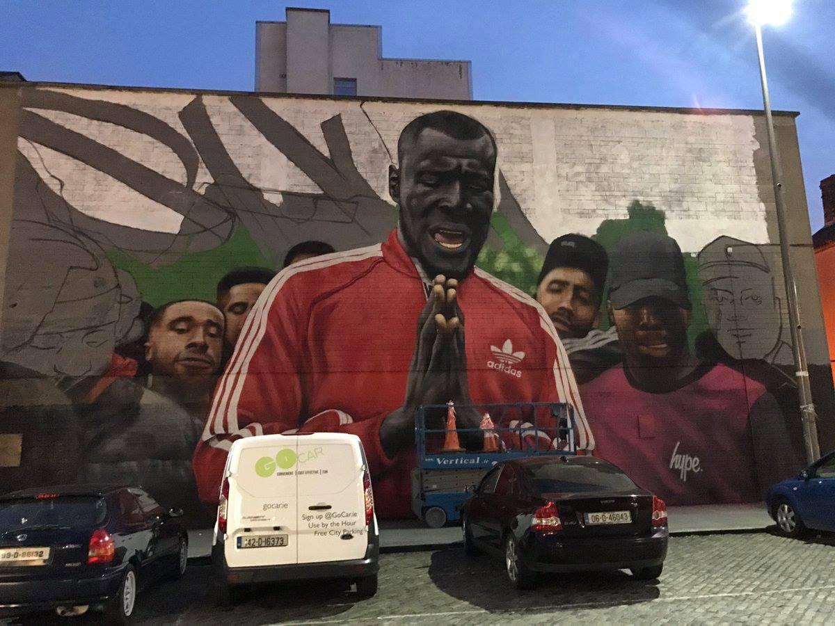 mural of Stormzy