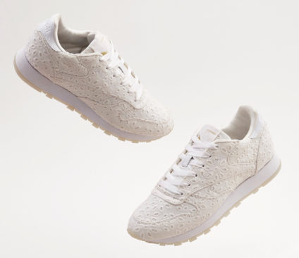 6ad681842de ASOS WHITE x Reebok Classic Leather In Broderie Anglaise £70.00 SEPT (1)