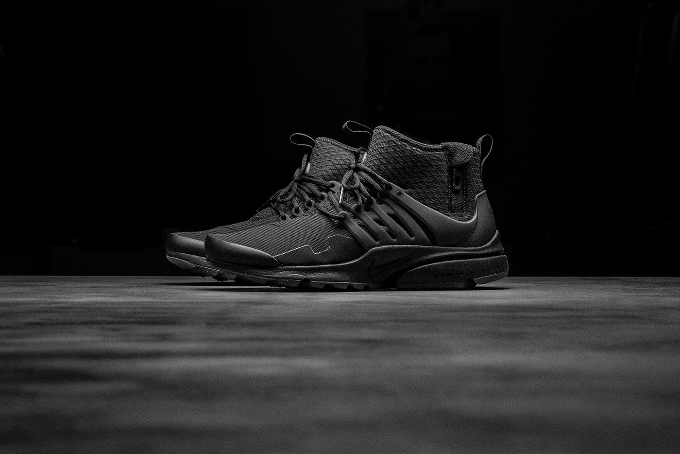 "52539128cdcb We Check Out the Nike Air Presto Mid Utility ""Triple Black ..."