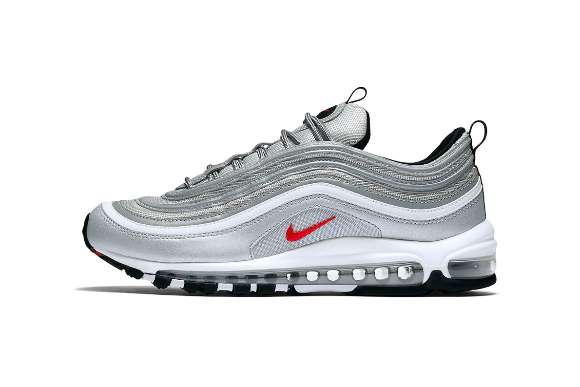 """602209dc91 The Nike Air Max 97 """"Silver Bullet"""" Is Getting Restocked - Trapped ..."""