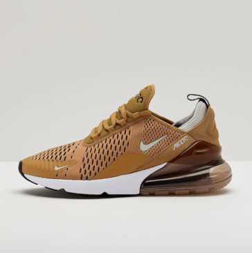 0a111d638b10e4 This luxury version of the Air Max 270 has a predominantly gold upper