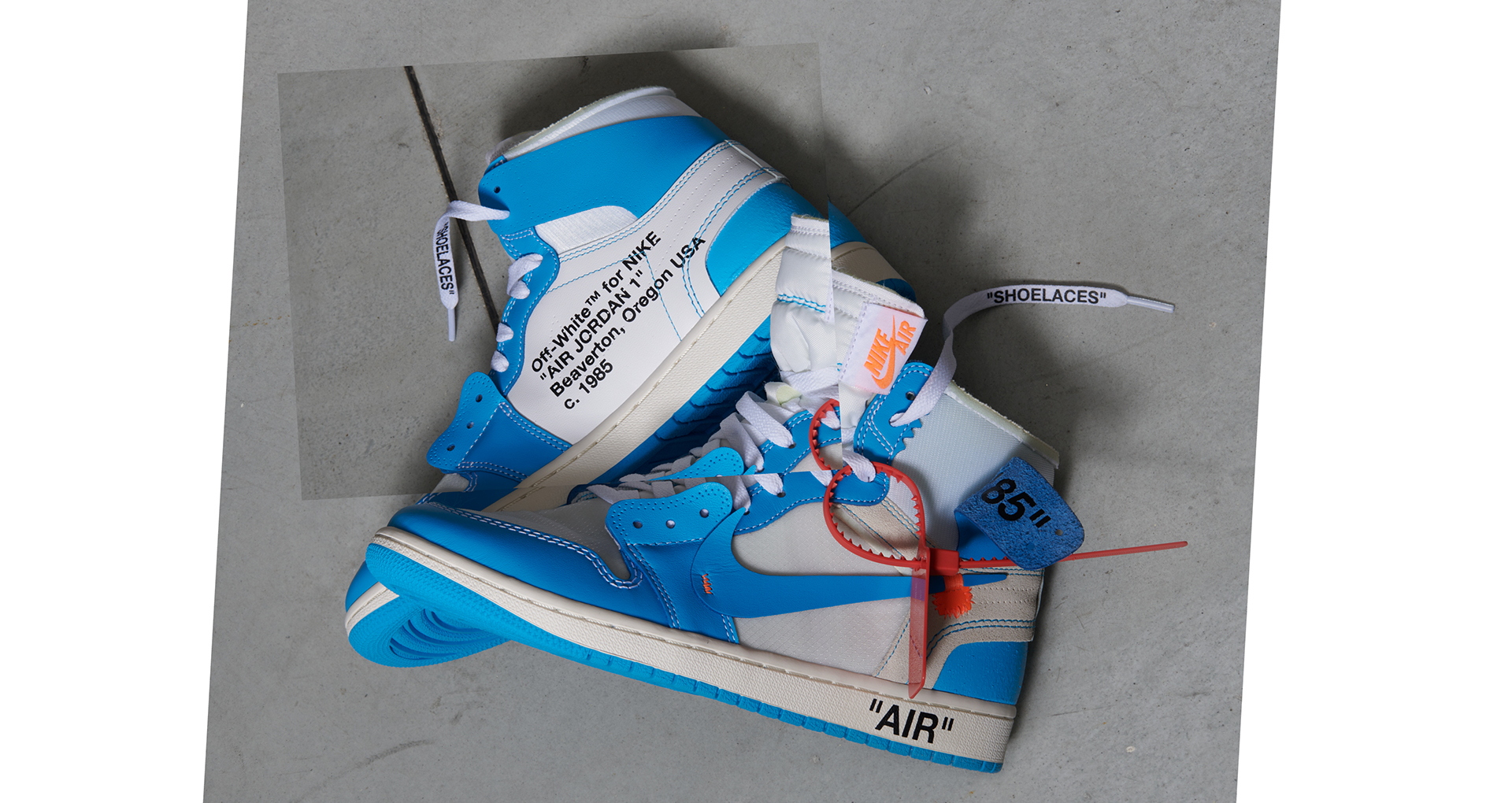 the latest 975aa ff344 The UK Release Date Of The UNC Off White x Jordan 1 ...